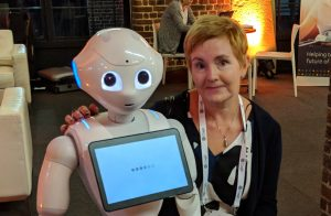 Pepper Robot and Nicola Rossi