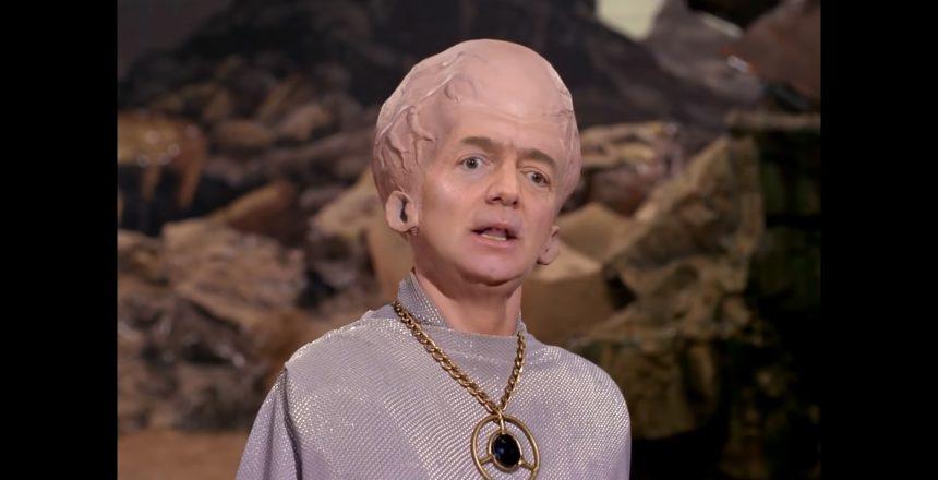 Bezos as alien