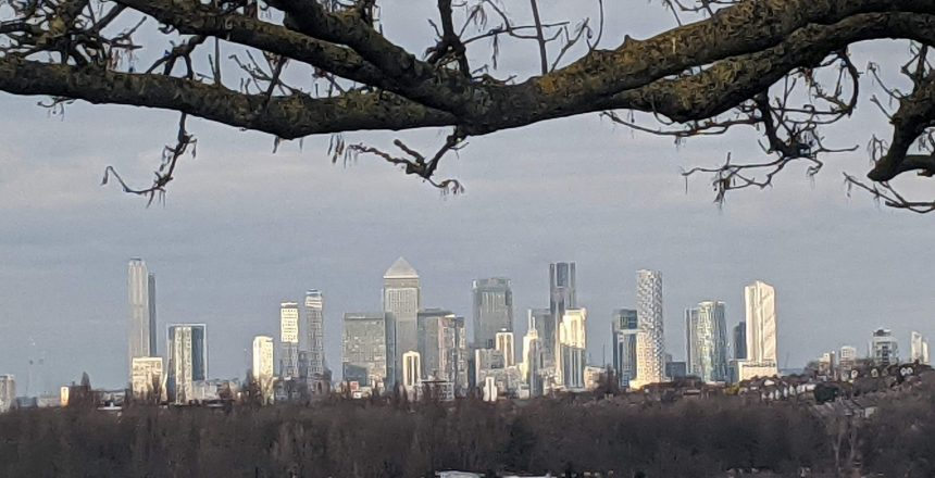 Canary Wharf from South London